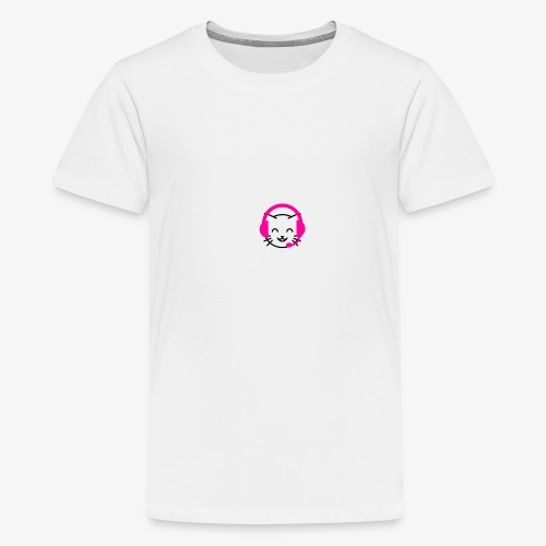 Twitch.com/Kajsamysig happy cat logo! - Premium-T-shirt tonåring