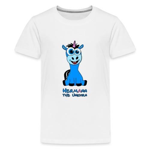 Hermann the Unicorn front - Teenager Premium T-Shirt