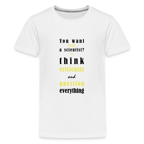 Think Critically - Koszulka młodzieżowa Premium