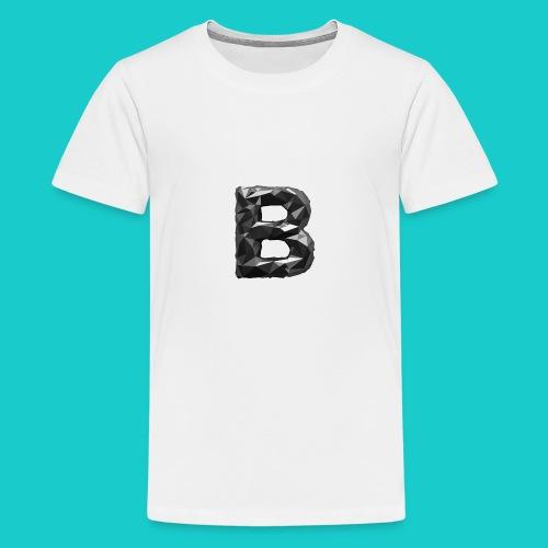 paper-melt-font-letter-B-1- - Teenage Premium T-Shirt