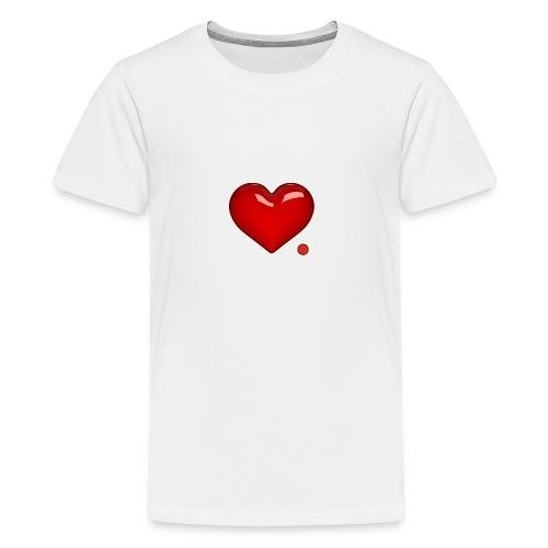 Amore e punto. Cuore. - Maglietta Premium per ragazzi