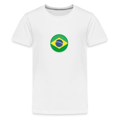Bandeira do brasil Encontro - Teenage Premium T-Shirt