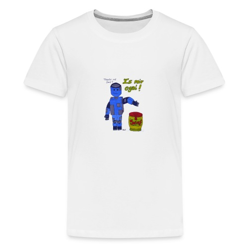 Roboter mit Senf - is mir egal! - Teenager Premium T-Shirt