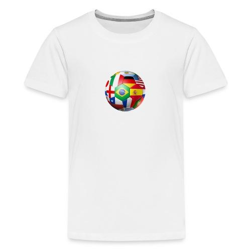 Brasil Bola - Teenage Premium T-Shirt