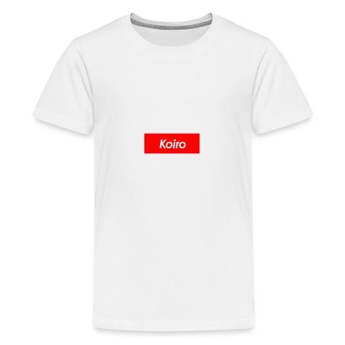 Koiro - Punainen - Teinien premium t-paita