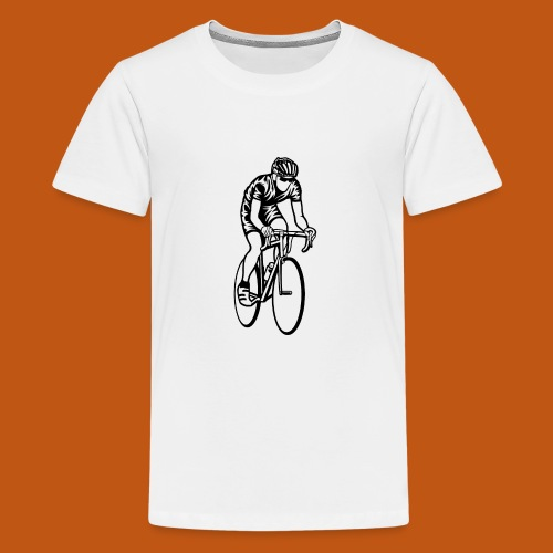 Rennrad / Racing Bicycle 01_schwarz - Teenager Premium T-Shirt