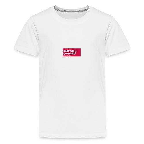 Red White Fashion Logo startup yourself motivation - Teenager Premium T-Shirt