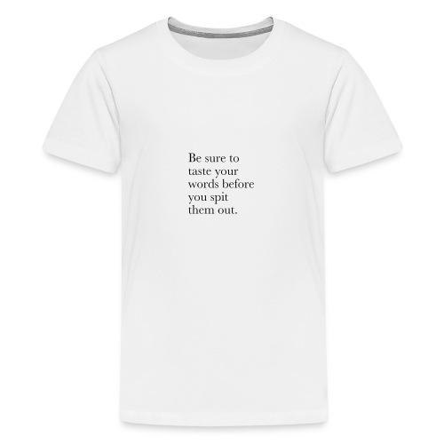 new life quotes - Teenage Premium T-Shirt