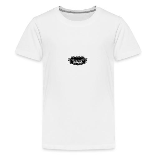 LOGO SWAG LIGHTS CAMERA - Maglietta Premium per ragazzi