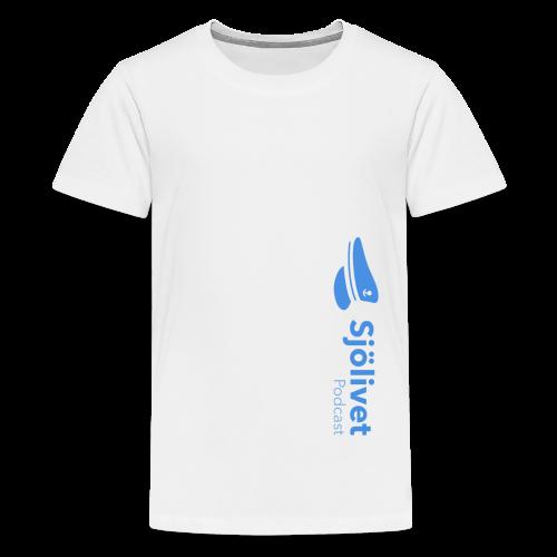 Sjölivet podcast - Svart logotyp - Premium-T-shirt tonåring