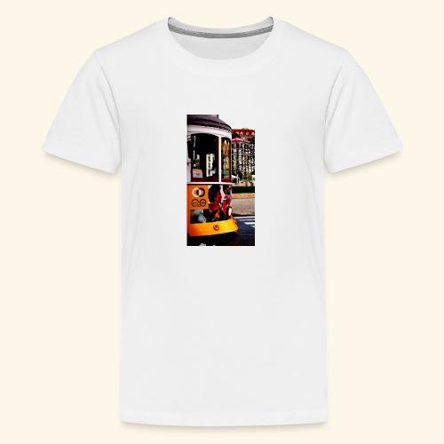 Scorcio tram colorato - Maglietta Premium per ragazzi