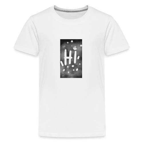 Hola o hi nublado - Camiseta premium adolescente