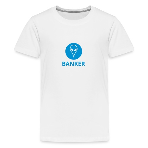 Alien Banker - Teenage Premium T-Shirt
