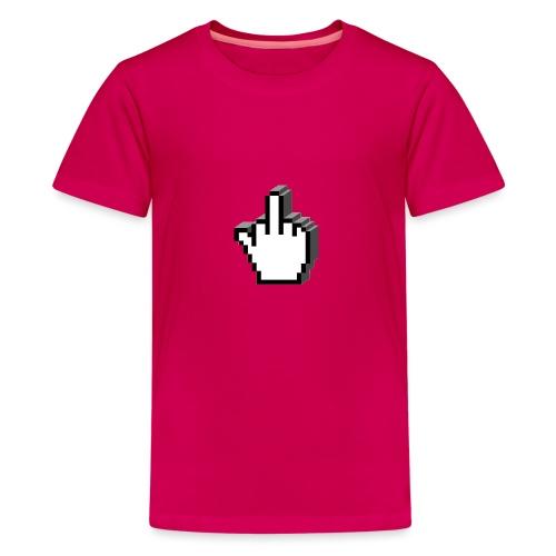 Middle_Finger_Design - Teenage Premium T-Shirt