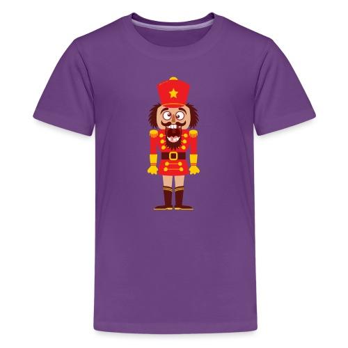 A Christmas nutcracker is a tooth cracker - Teenage Premium T-Shirt