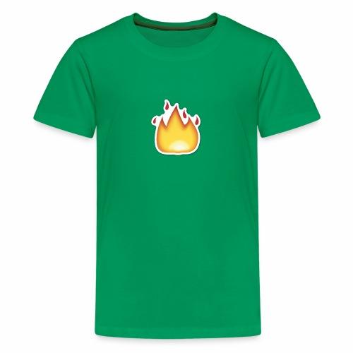 Liekkikuviollinen vaate - Teinien premium t-paita
