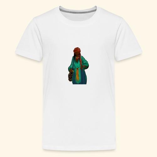 Femme avec sac motif - T-shirt Premium Ado