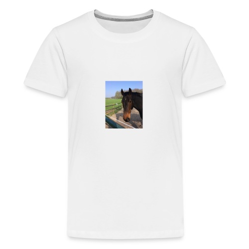 Met bruin paard bedrukt - Teenager Premium T-shirt