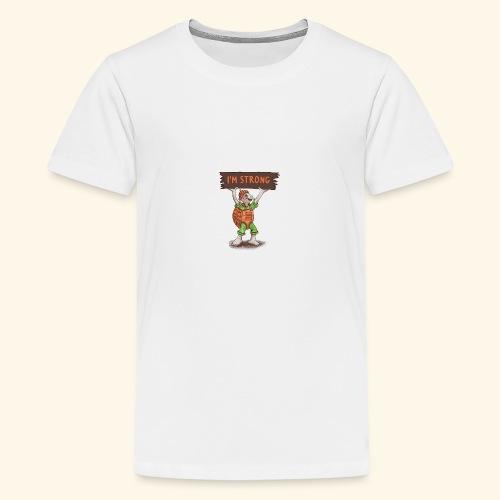 Turtle - Ich bin stark. - Teenager Premium T-Shirt