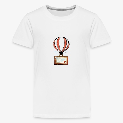 CUORE VIAGGIATORE Gadget per chi ama viaggiare - Maglietta Premium per ragazzi