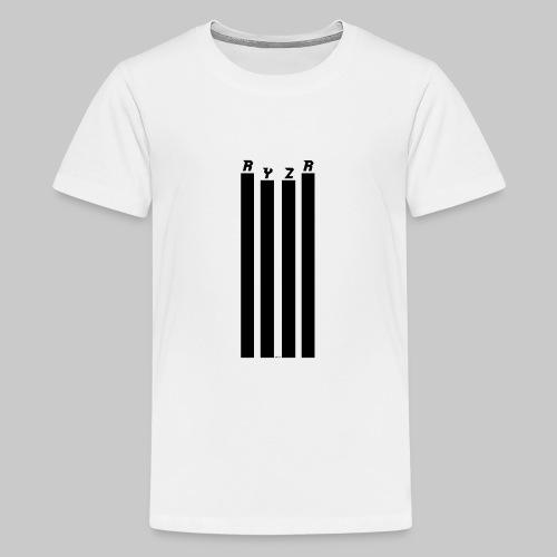 rayzor streifen logo - Teenager Premium T-Shirt