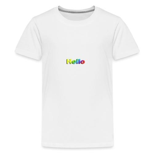 Hello - Koszulka młodzieżowa Premium