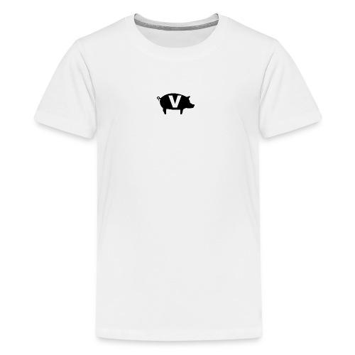 Viand-white-logo - T-shirt Premium Ado