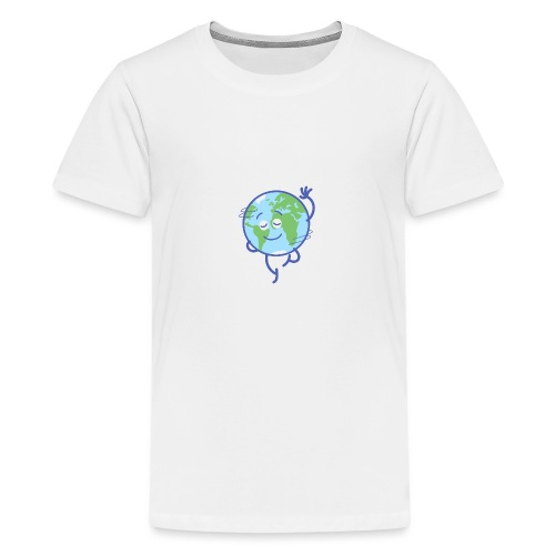 Nice planet Earth rotating graciously - Teenage Premium T-Shirt