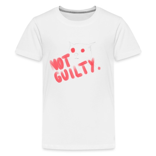Not Guilty Cat - Teenager Premium T-Shirt