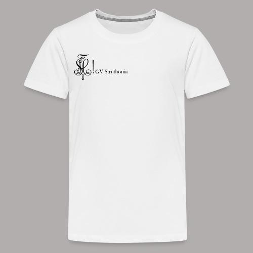 Zirkel mit Name, schwarz (vorne) - Teenager Premium T-Shirt