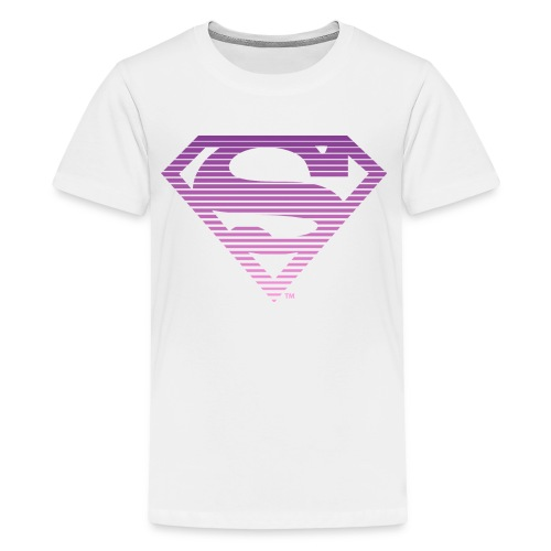 DC Comics Superman Gestreiftes Logo Farbverlauf - Teenager Premium T-Shirt