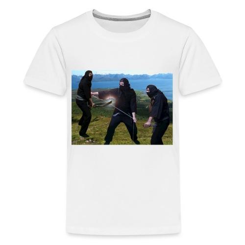 Chasvag ninja - Premium T-skjorte for tenåringer