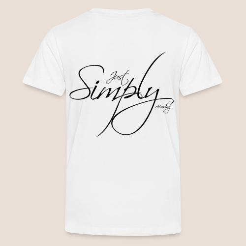 Just Simply Logo black // back - Teenager Premium T-Shirt