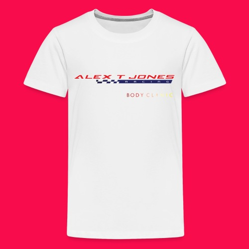 alex t jones racing logo CLEAR BKGD copy png - Teenage Premium T-Shirt