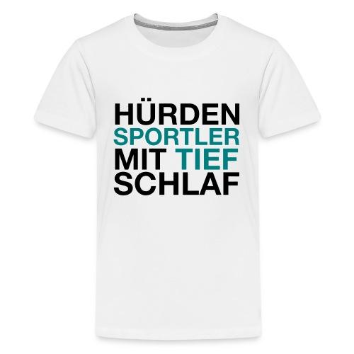 Hürdensportler - Teenager Premium T-Shirt