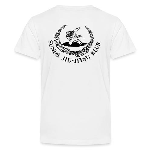 logo bagpå - Teenager premium T-shirt