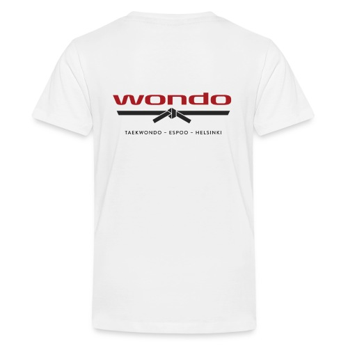 Wondo värillinen logo - Teinien premium t-paita