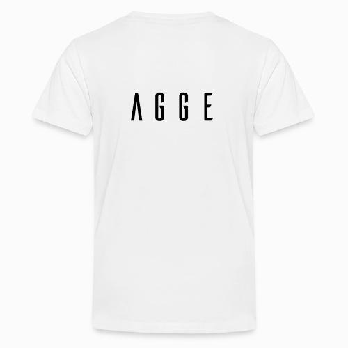 Agge - Svart logga   Bak - Premium-T-shirt tonåring