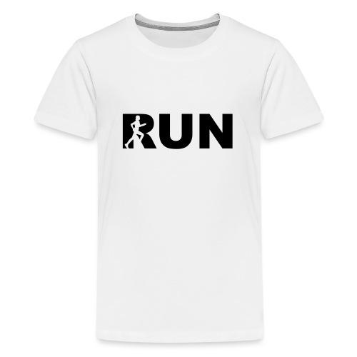 run running woman - Teenager Premium T-Shirt
