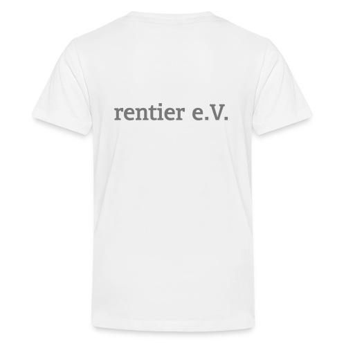schriftrentier - Teenager Premium T-Shirt