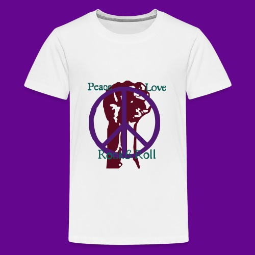 Peace Love Rock'n Roll - T-shirt Premium Ado