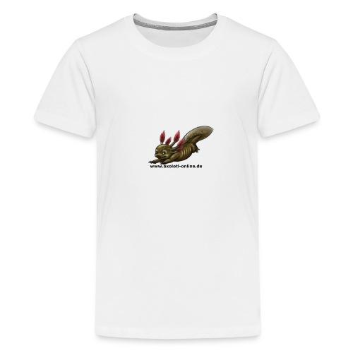 Axolotlshirt Männlein 1.png - Teenager Premium T-Shirt