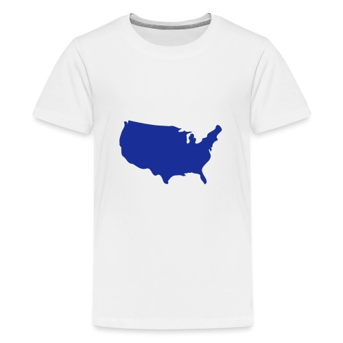 usa map - Teenage Premium T-Shirt