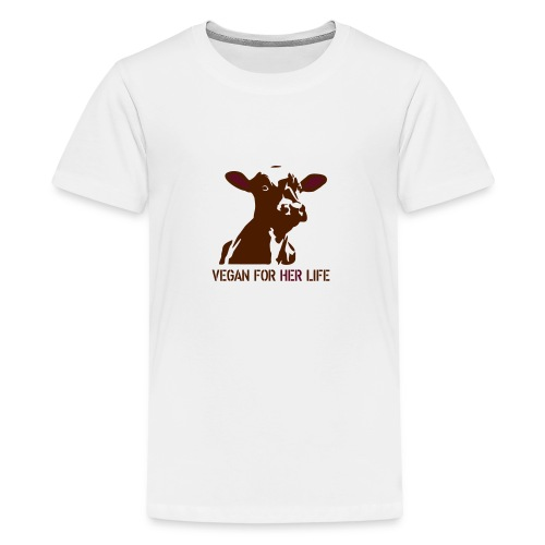 vegan for her life - Teenager Premium T-Shirt