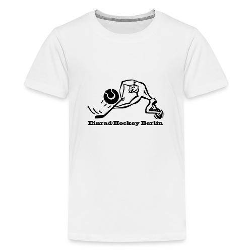 Einradhockey Backhand - Teenager Premium T-Shirt