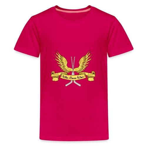 Who Saves Wins, Hockey Goalie - Teenage Premium T-Shirt