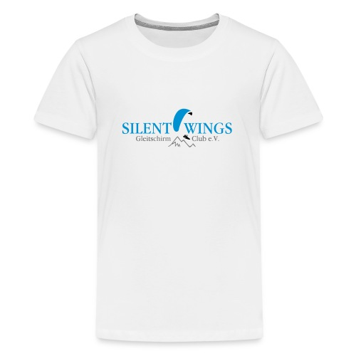 Silent Wings Logo 3 farbig - Teenager Premium T-Shirt