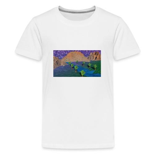 Silent river - Teenage Premium T-Shirt