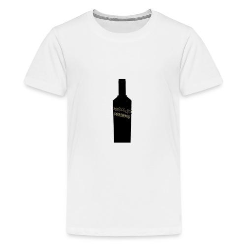 flaske forran - Premium T-skjorte for tenåringer