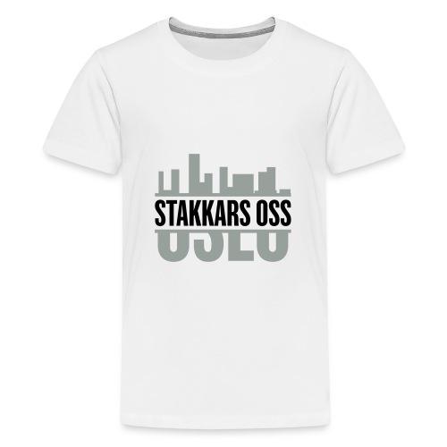 stakkars oss logo 2 ny - Premium T-skjorte for tenåringer